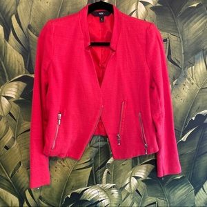 Mossimo red moto blazer with zipper accents